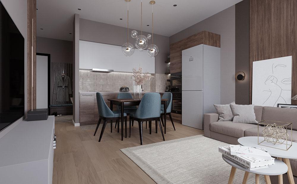 Объединение кухни и гостиной — основной запрос современных заказчиков в условиях любой жилой площади