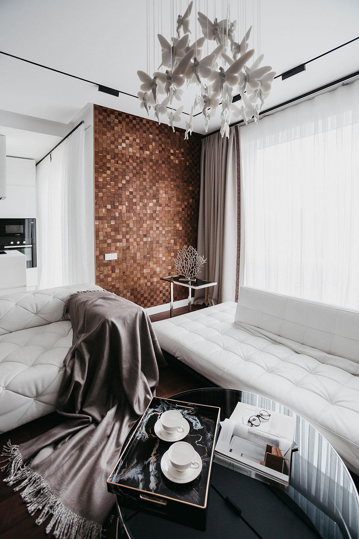 Квартира для уикендов в Москве создавалась для семьи, в основном проживающей за границей
