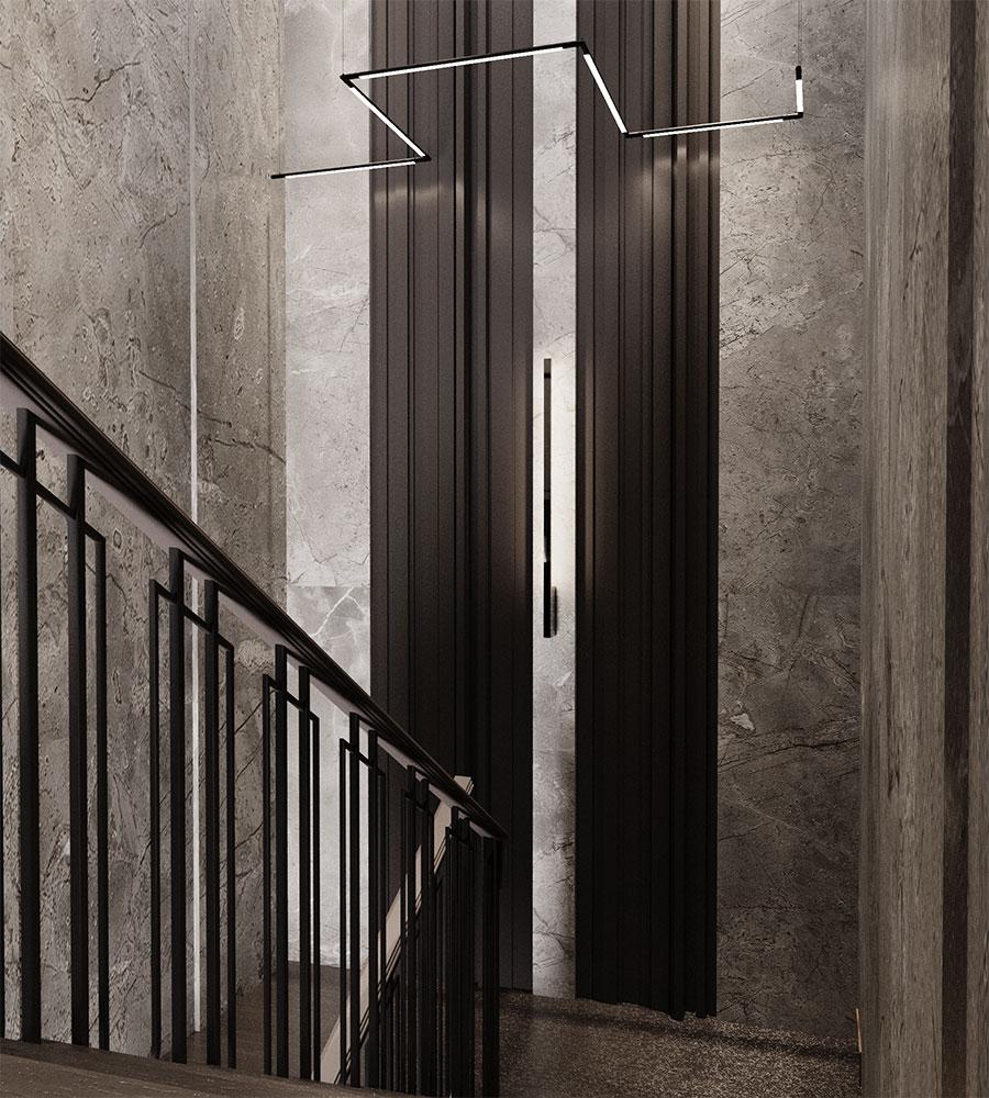 Общая стилистическая идея дизайн-проекта таунхауса в целом единая для всего интерьера.