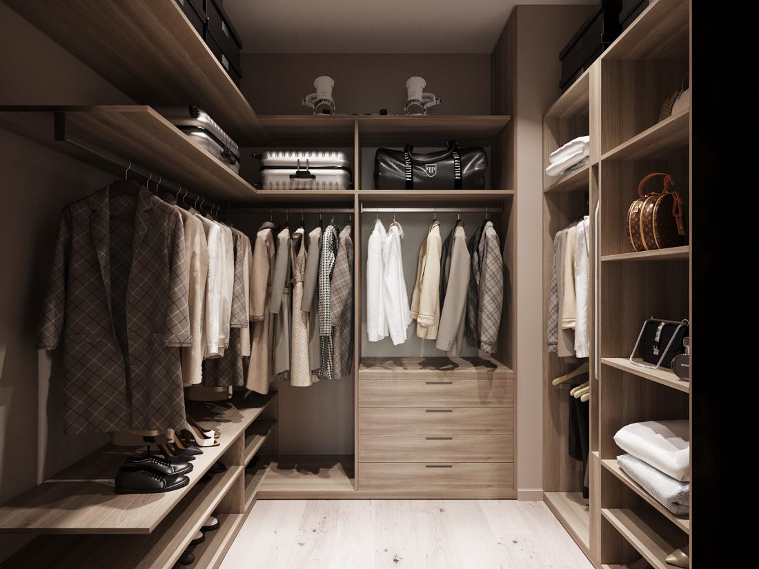Вместительная гардеробная - необходимый элемент каждого дизайн-проекта