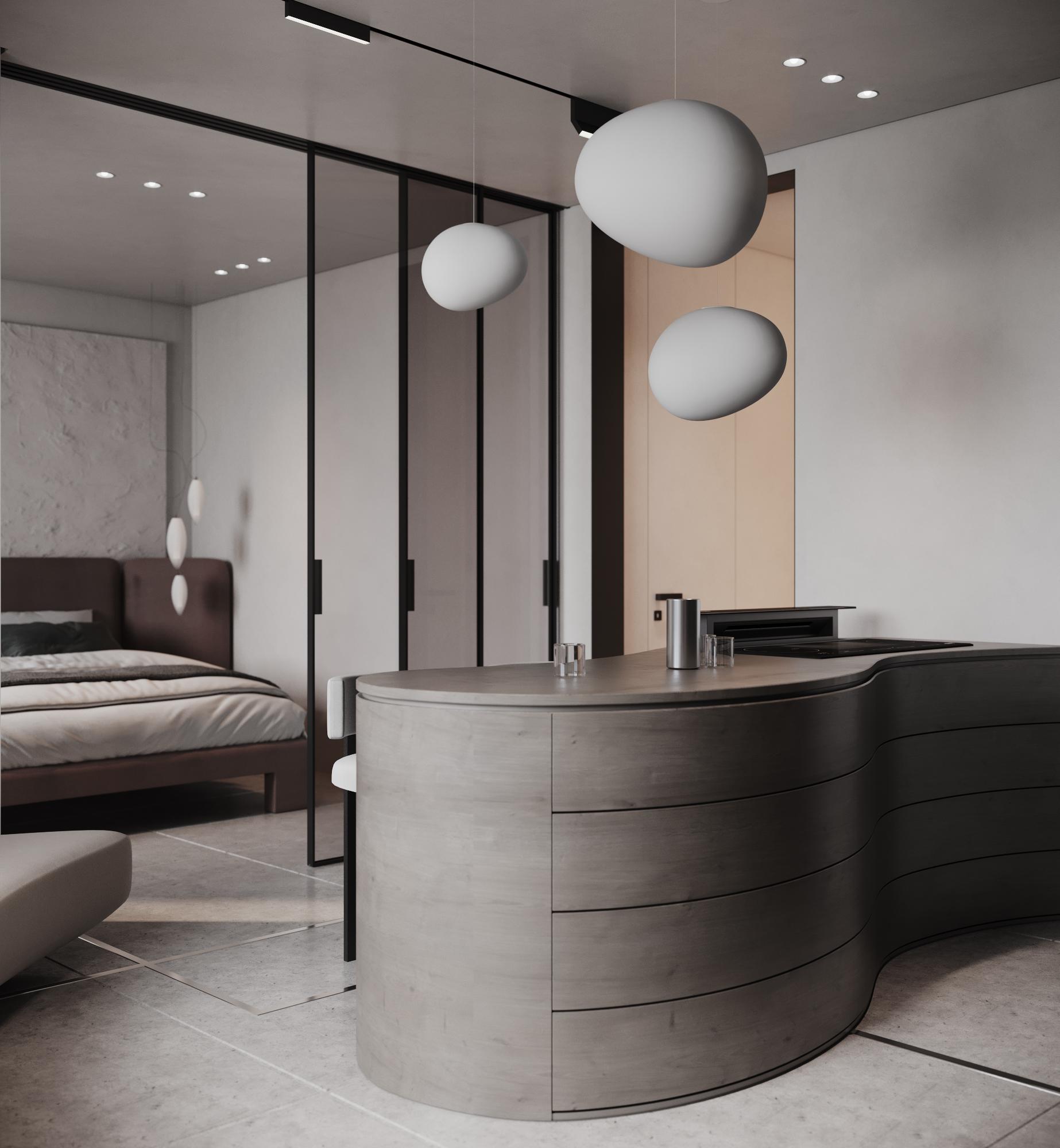 Функциональность в маленькой квартире - первое над чем мы начинаем работать на этапе планировочного решения.
