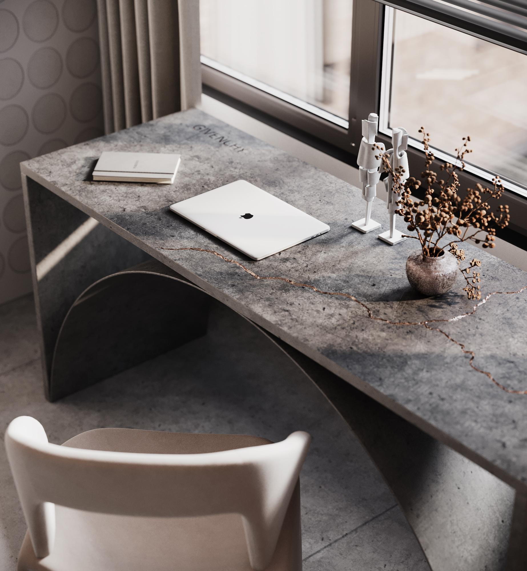 Устойчивый и креативный стол перед окном всегда будет настраивать на творческое решение задач