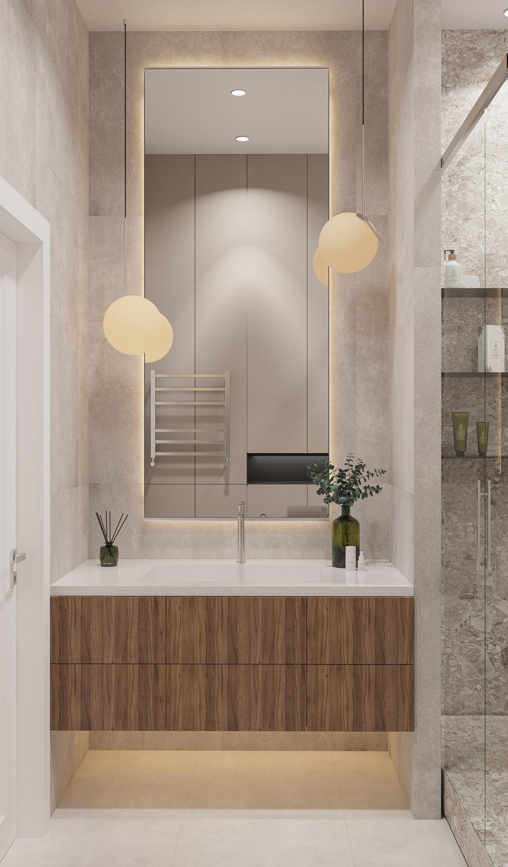 В хорошем дизайн-проекте ванная комната тоже является продолжением общей идеи интерьера